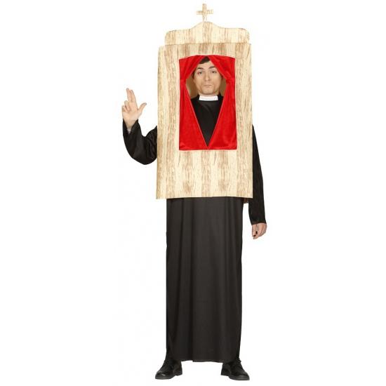 Religie kostuums Pastoor met biechtstoel kostuum
