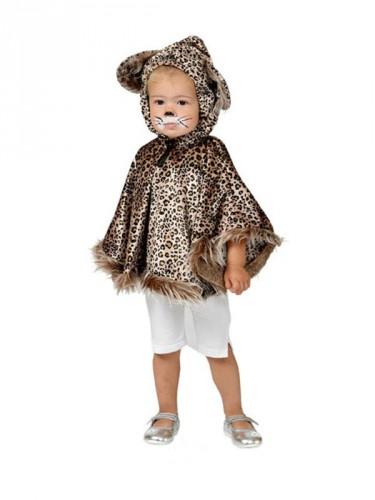 Peuter poncho luipaard met oortjes