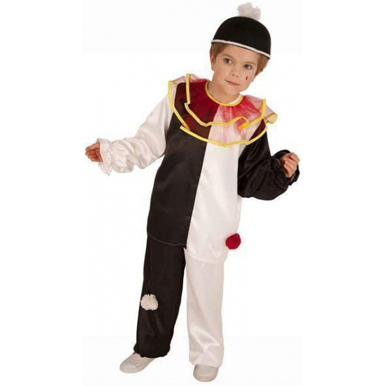 Pierrot clownspak voor kinderen Carnavalskostuum winkel Schitterend