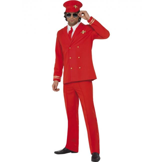 Piloten pak rood