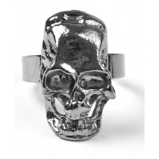 Piraten accessoires schedel ring