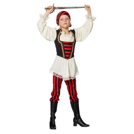 Piraten kostuum rood zwart voor meisjes Carnavalskostuum winkel Geschiedenis kostuums