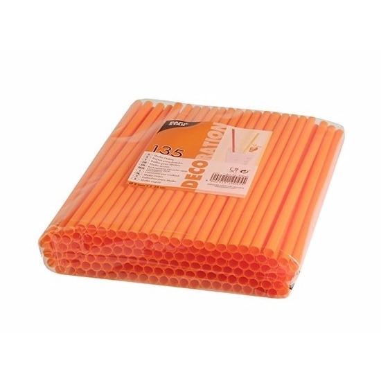 Plastic feestrietjes oranje 135 stuks