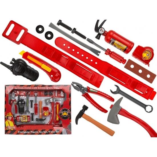 Plastic gereedschapset voor brandweerman