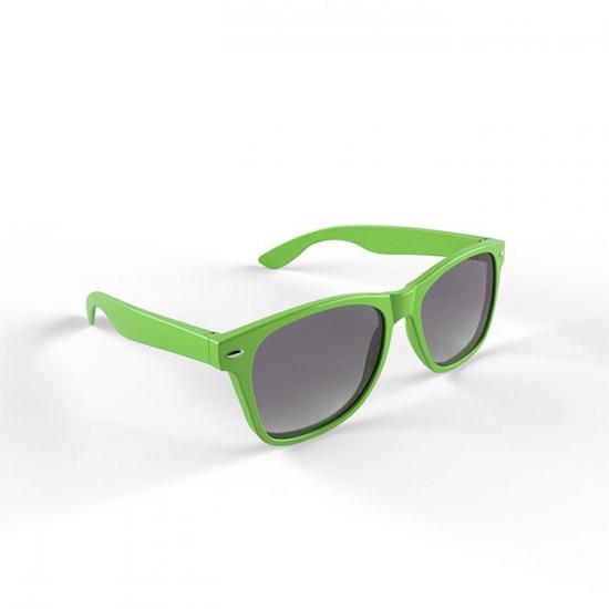 Plastic zonnebril limegroen