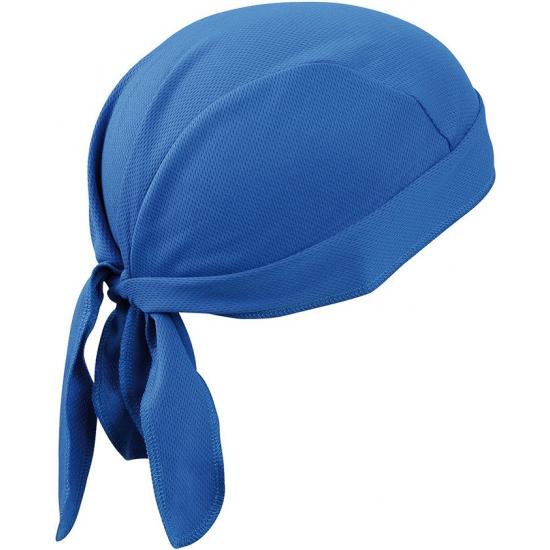 Polyester bandana kobalt blauw