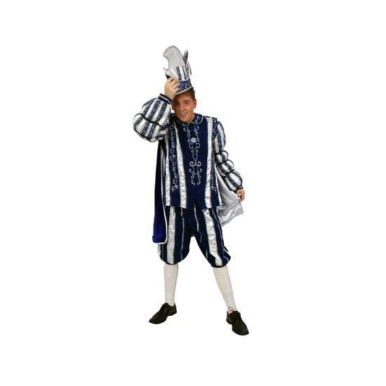 Prins Carnaval kostuum blauw wit