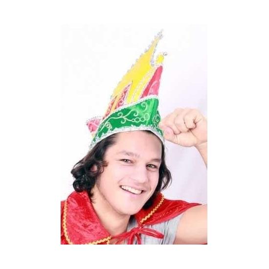 Geen Prins Carnaval muts rood geel groen voor volwassenen Feest hoeden