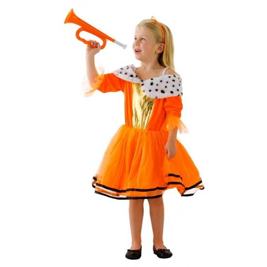 Prinses verkleedkleding oranje voor meisjes