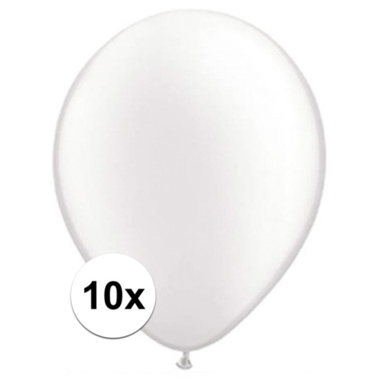 Qualatex ballonnen parel wit 10 stuks