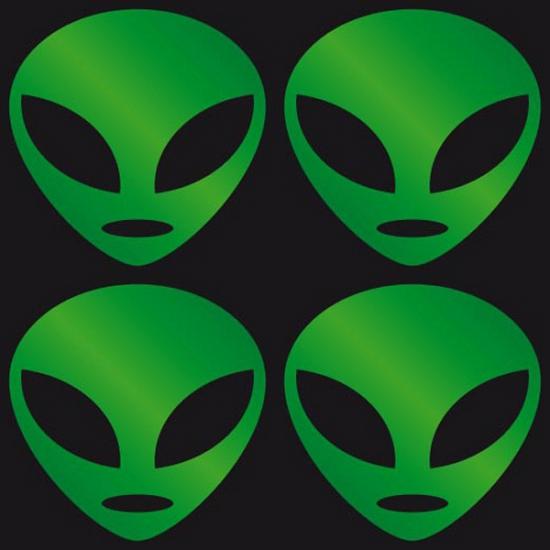 Schoolspullen Carnavalskostuum winkel Reflecterende Alien stickers groen