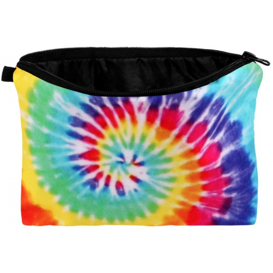Reistasjes met tie dye regenboog swirl