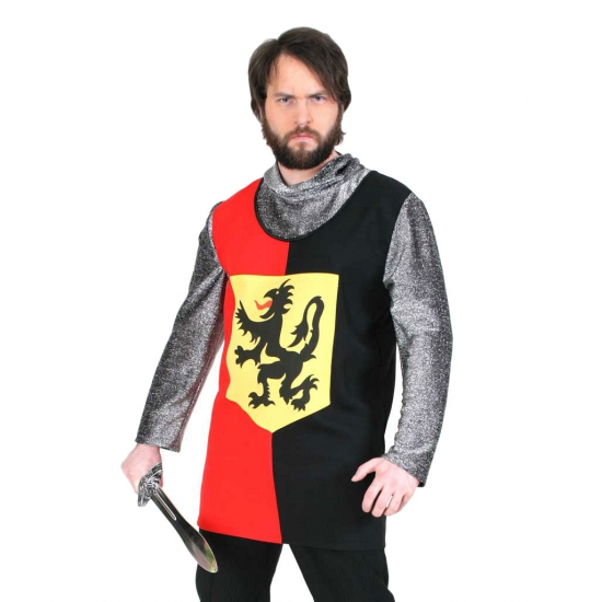 Ridder kostuum shirt met leeuw