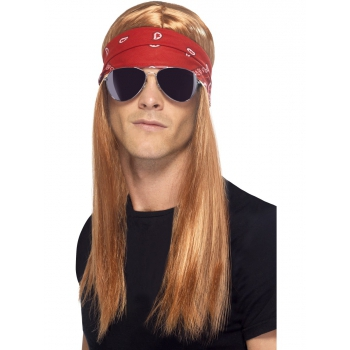 Verkleedaccessoires Smiffys Rockers pruik bril en bandana