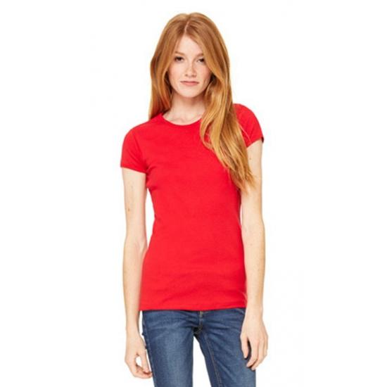 Rode dames shirtjes ronde hals Bella Hoge kwaliteit