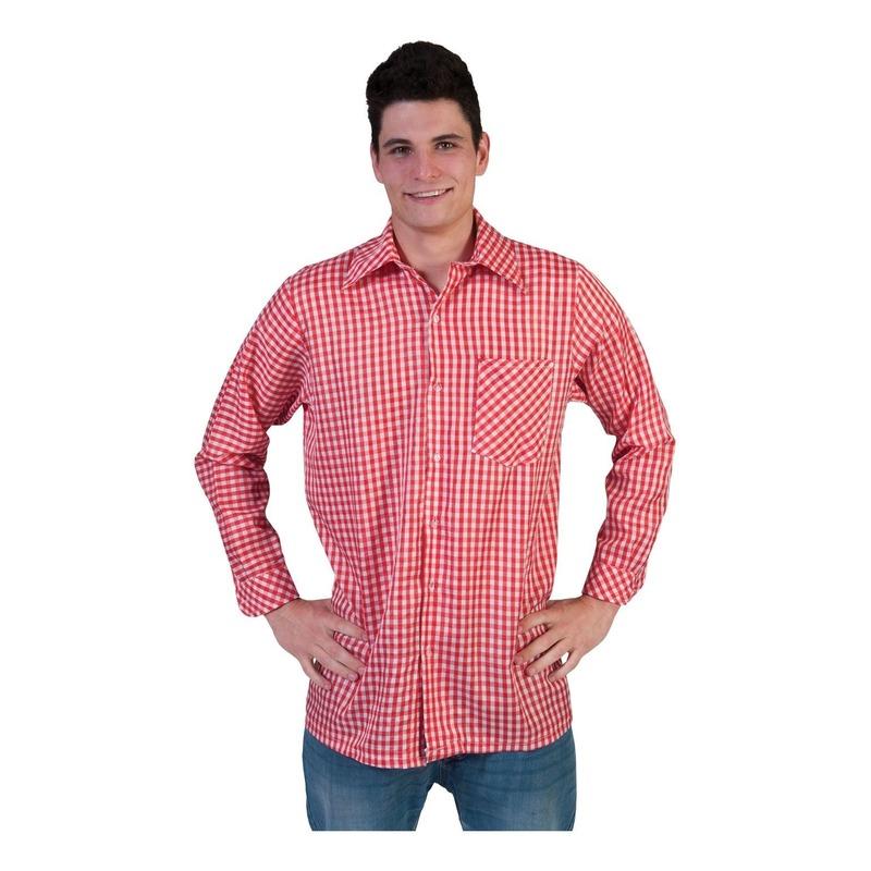 Rode geruite verkleedkleding voor heren
