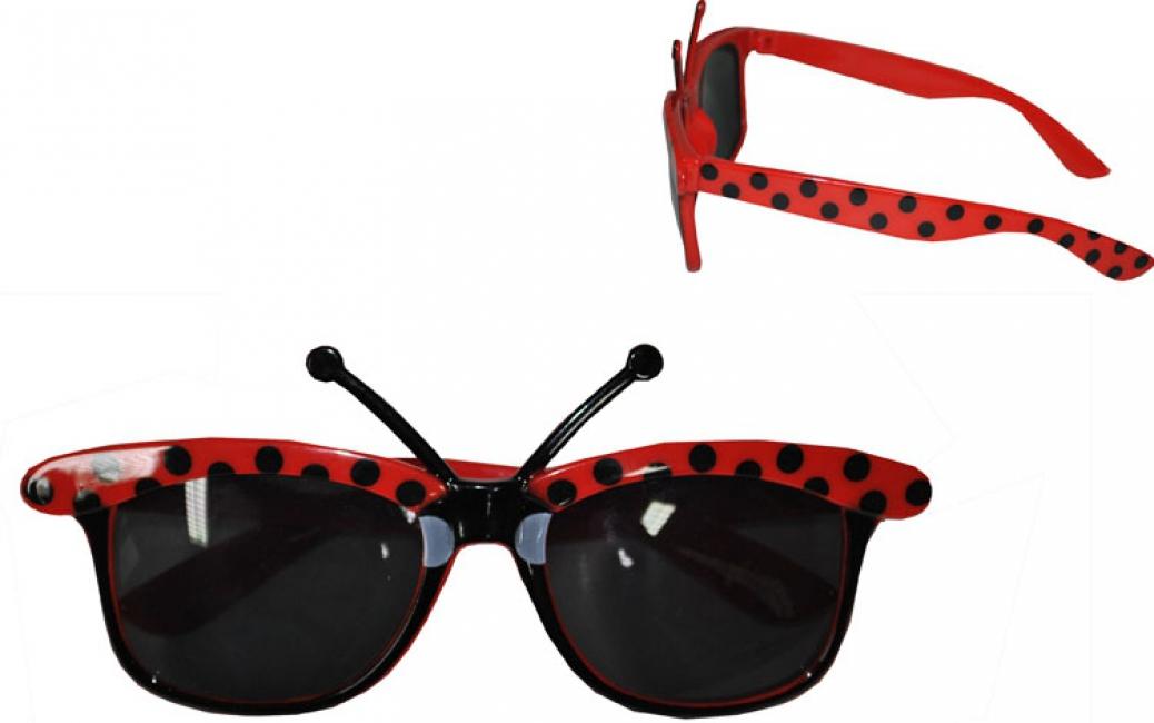 Rode lieveheersbeestjes zonnebril