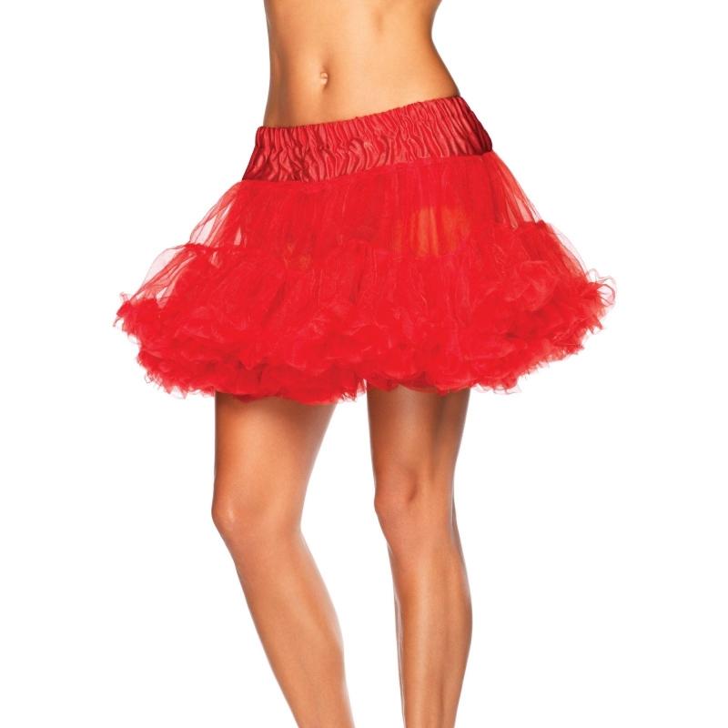 Rode Petticoat Kort 2-laags 40 Cm