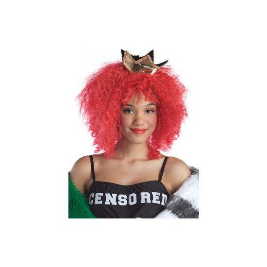Carnavalskostuum winkel Rode superster pruik Pruiken