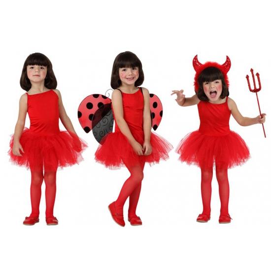 Carnavalskostuum winkel Rood ballet jurkje met tutu rok voor kinderen Fantasy en Sprookjes kostuums