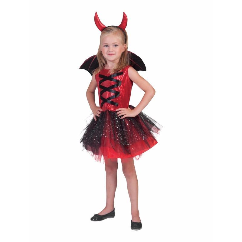 Rood duivels jurkje voor meisjes