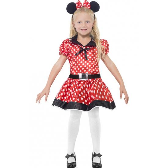 Superhelden en Cartoon kostuums Smiffys Rood Meisjes muis jurkje voor meisjes