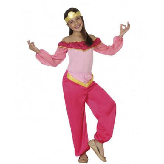 Roze arabische prinses kostuum