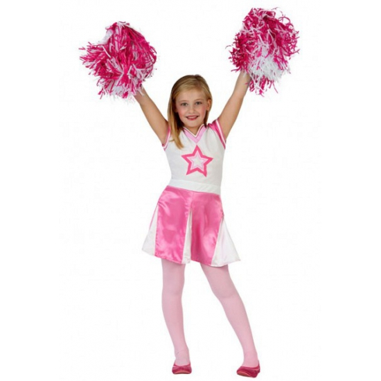 Roze cheerleader jurkje voor meisjes