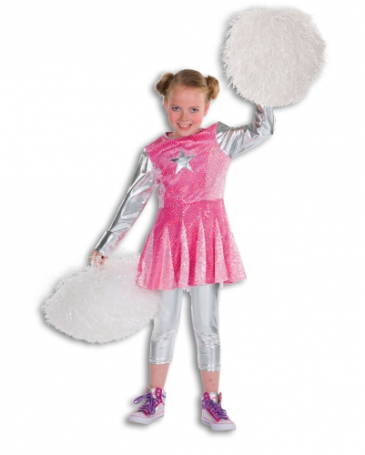 Roze cheerleaders pakje voor meisjes