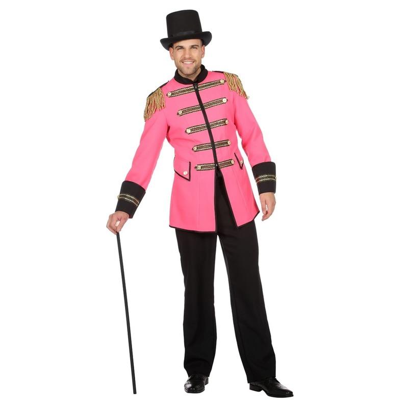 Roze circus directeur jas voor heren