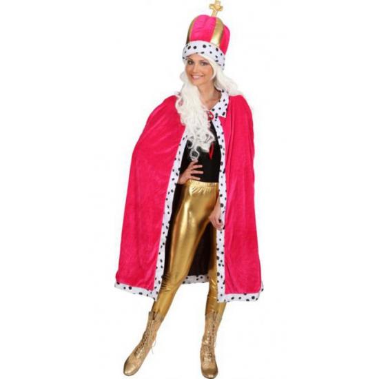 Geen Roze mantel met muts voor dames Fantasy en Sprookjes kostuums