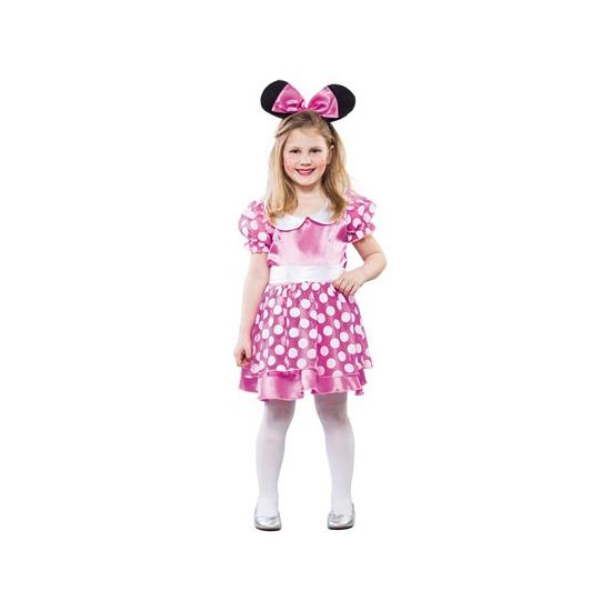 Superhelden en Cartoon kostuums Roze muizen jurkje voor meisjes