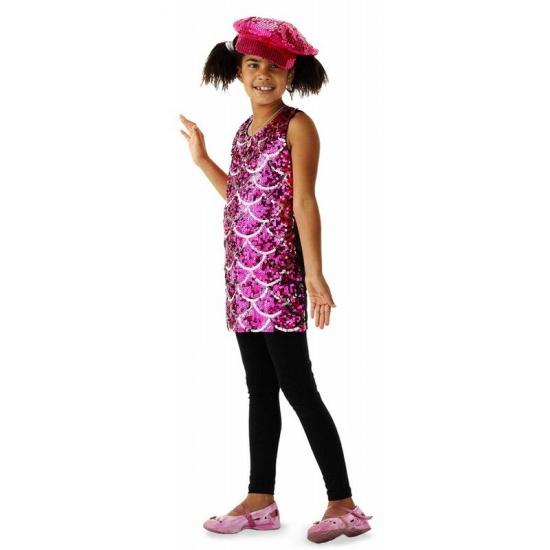 Roze pailletten jurken voor meisjes