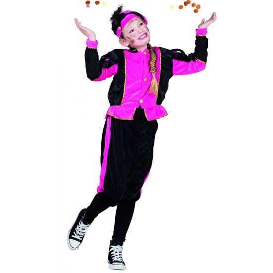 Roze Pieten kinderverkleedkleding