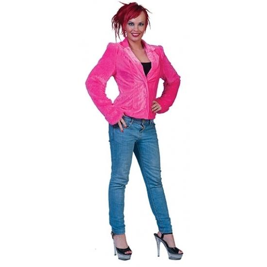 Soorten kostuums Carnavalskostuum winkel Roze pluche dames colbertje