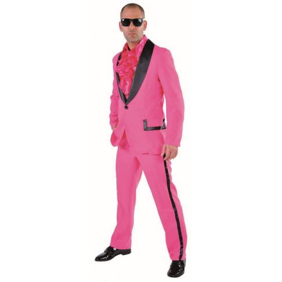 Roze rock en roll kostuum voor heren