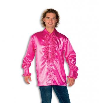 Soorten kostuums Roze rouches overhemden voor heren