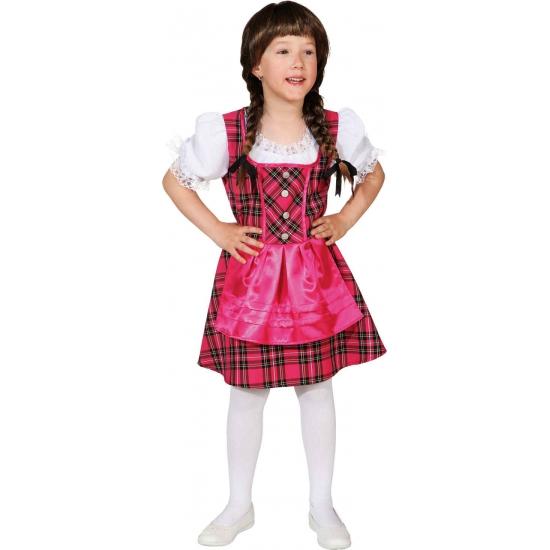 Roze Tirolerjurk voor meisjes Geen Hoge kwaliteit