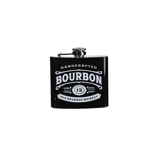 RVS zakflesje bourbon 150 ml