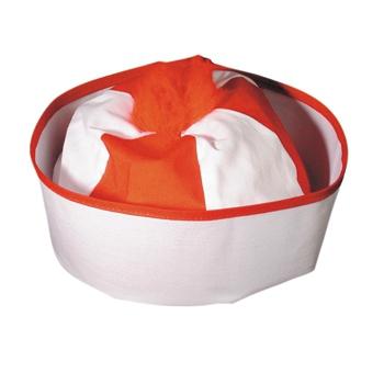 Feest hoeden Carnavalskostuum winkel Sailors mutsje rood met wit