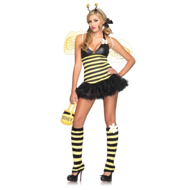 Sexy bijen kostuum met accessoires