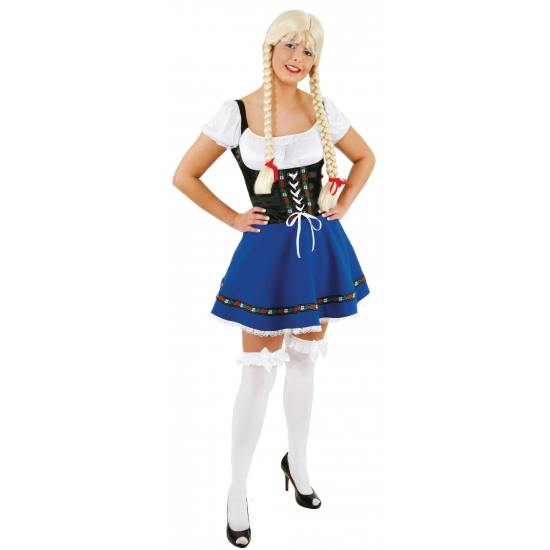 Carnavalskostuum winkel Sexy blauw Oktoberfest outfit voor dames Oktoberfest kostuums