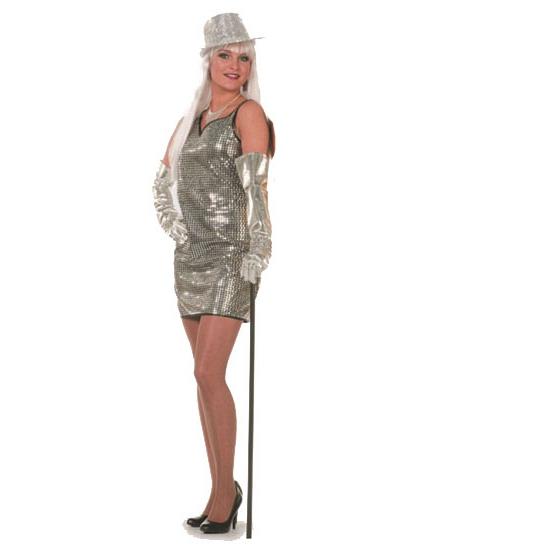Sexy dames jurkje zilver