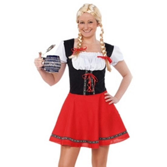 Carnavalskostuum winkel Sexy Tiroler dames jurkje voordelig Oktoberfest kostuums