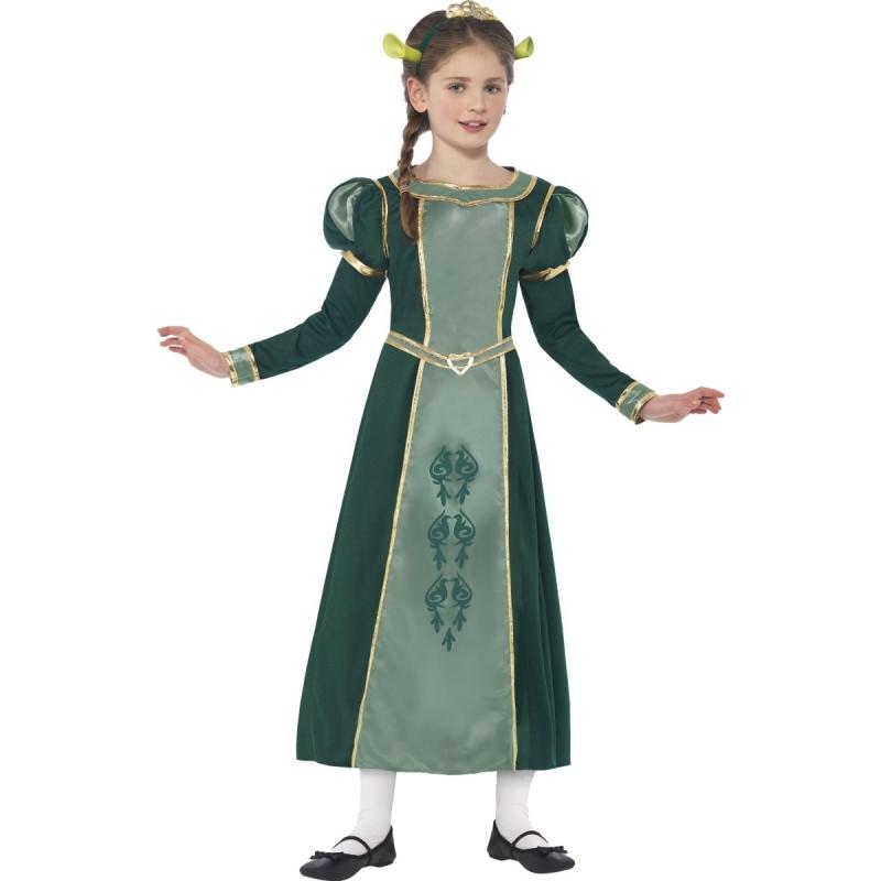 Superhelden en Cartoon kostuums Smiffys Shrek Prinses Fiona kostuum voor meisjes
