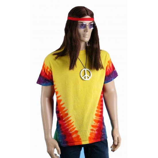 Sixties t shirt rainbow Colortone Geweldig