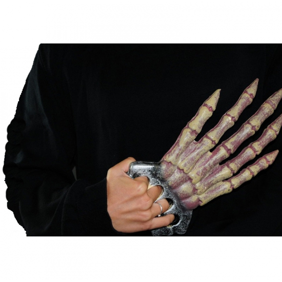 Skelet hand met botten