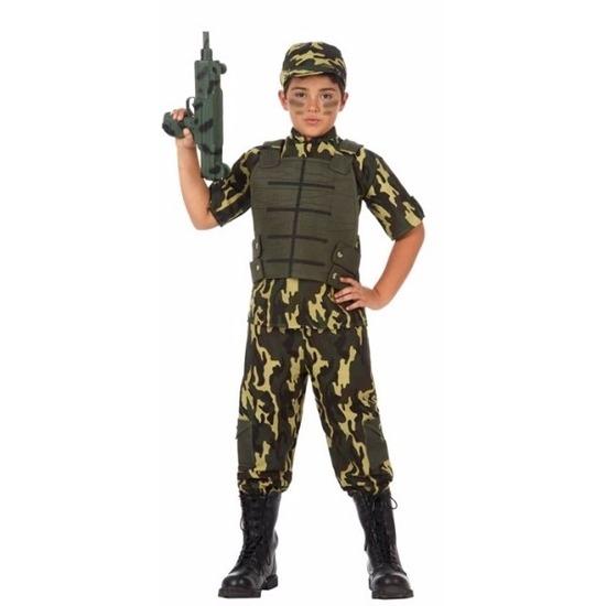 Beroepen kostuums Atosa Soldaat leger kostuum voor jongens