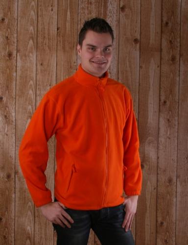 Sols oranje fleece vest met rits