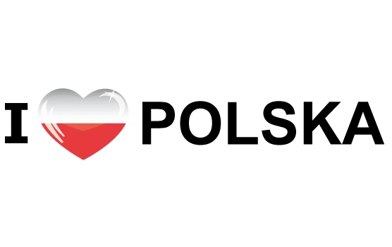 Souvenir sticker I Love Polska